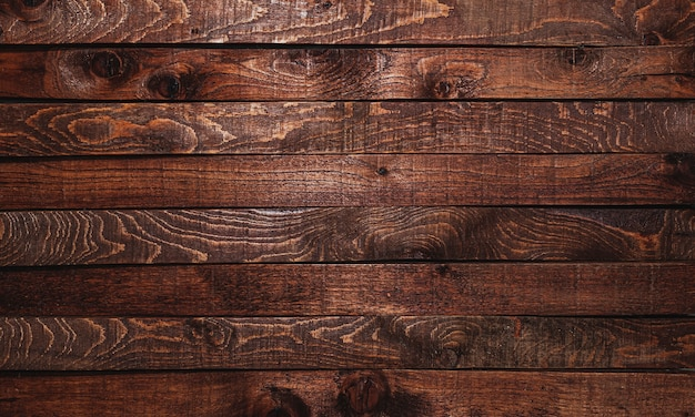 Vintage wooden planks table, old, retro and grunge wood texture, top view