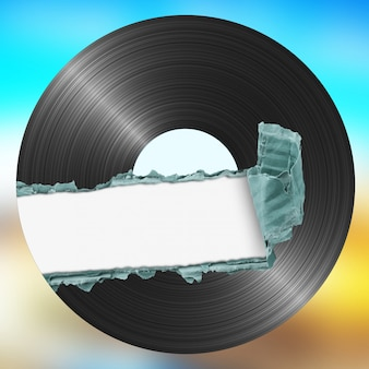 Vinyl on color