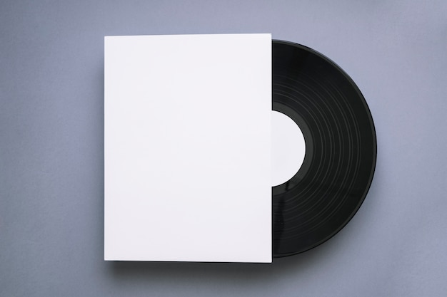 Vinyl mockup with paper