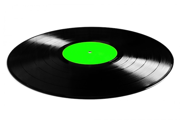 Vinyl plate isolated