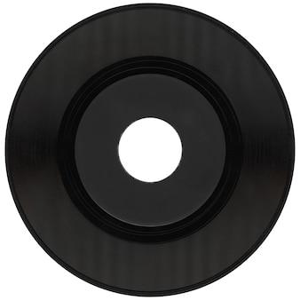 白の上に分離されたビニールレコード