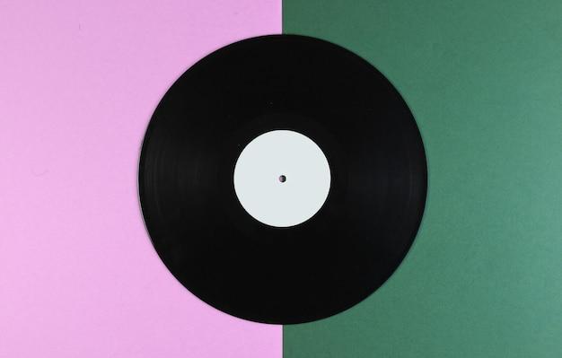 녹색 분홍색에 비닐 레코드
