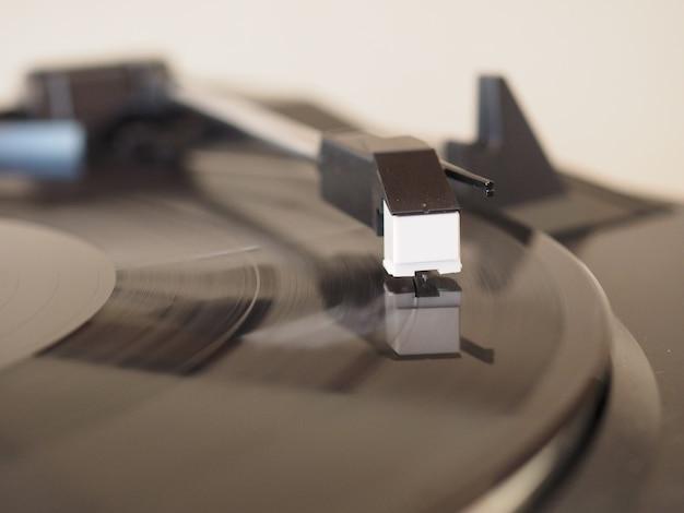 ビニールレコードの回転