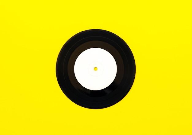 Виниловая пластинка, вид сверху, плоская