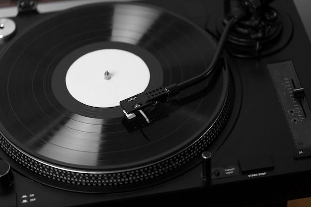 Vinyl record with retro texture composition