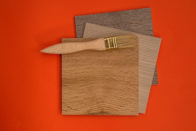 デザイン用ペイントブラシ付き家具用ビニールサンプル
