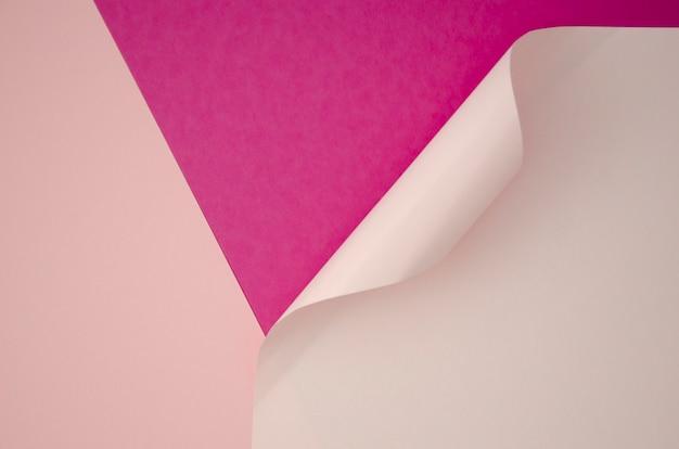 バイオレットと白の最小限の幾何学的形状とライン