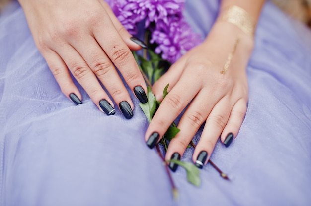 紫のアスターの花