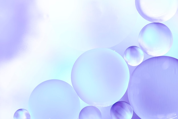 Violet and blue abstract bubbles texture