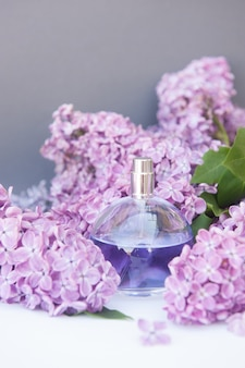 Violet circle perfume bottle