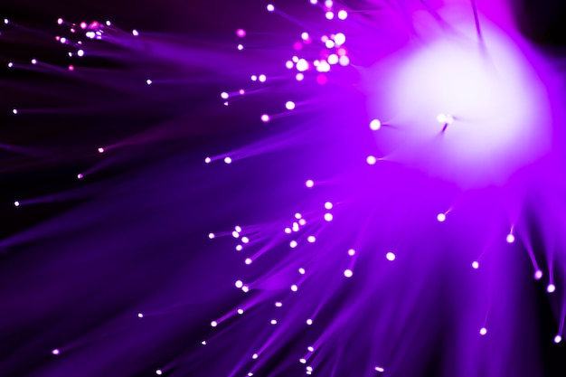 Violet fiber optics lights abstract background