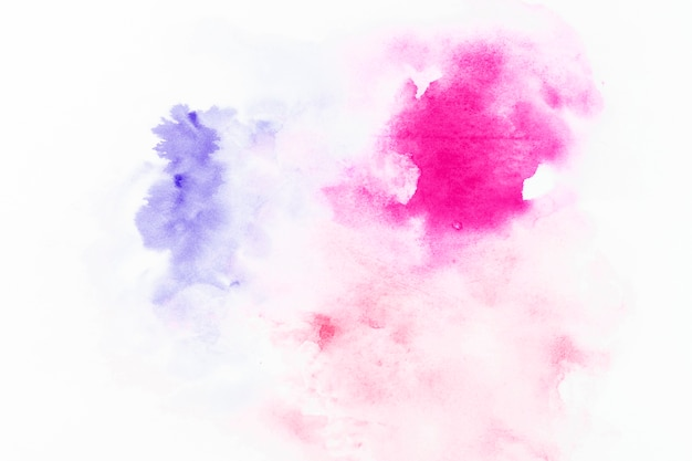 Violet and fuchsia drops of watercolor
