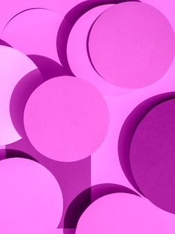 Violet paper circles of geometric background