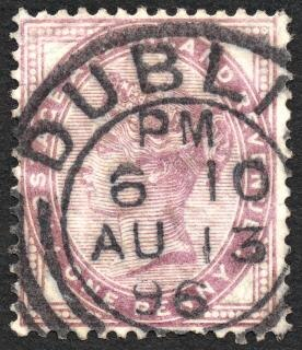 Violet queen victoria stamp  isolate