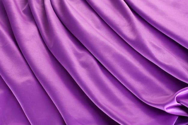 Фиолетовая шелковая драпировка,