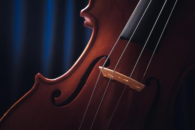 바이올린. 첼로. 고전 음악.