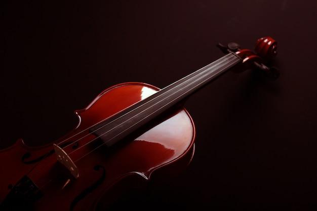 Violin over a dark background
