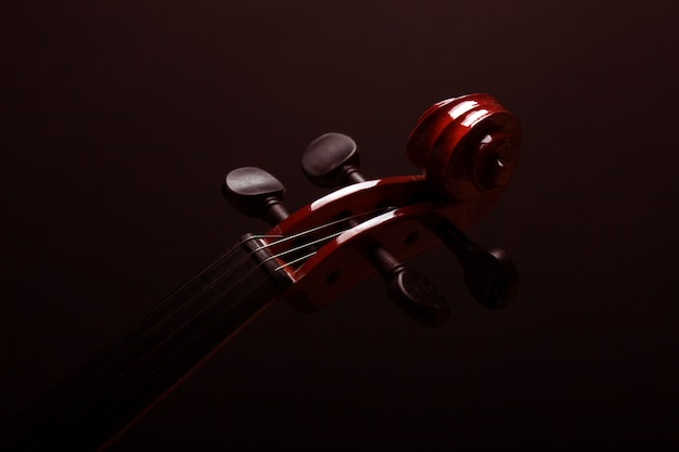 Violin over a dark background