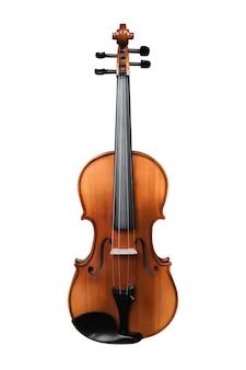 白で分離されたバイオリン