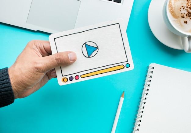 바이러스 성 마케팅 및 소셜 미디어 개념 아이디어