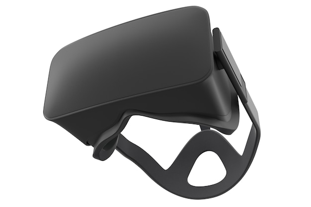 Virtual reality glasses isolated on white with cliping path d rendering