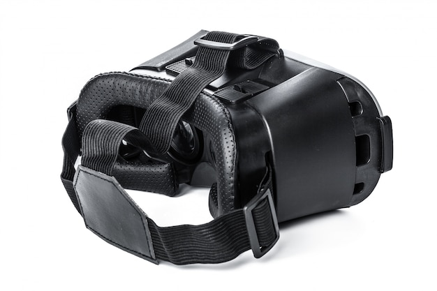Virtual reality glasses on white background