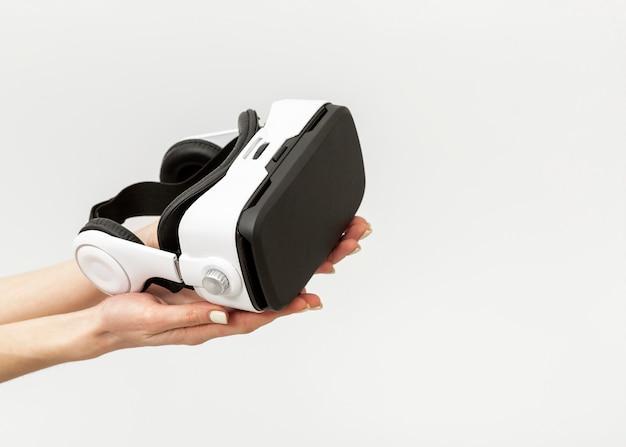 Virtual reality headset close up