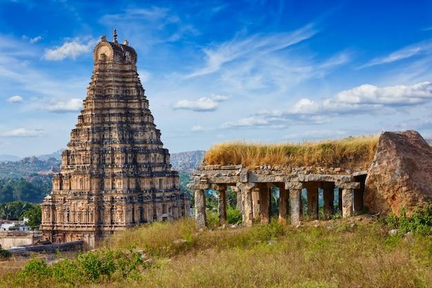 Храм вирупакша. хампи, карнатака, индия