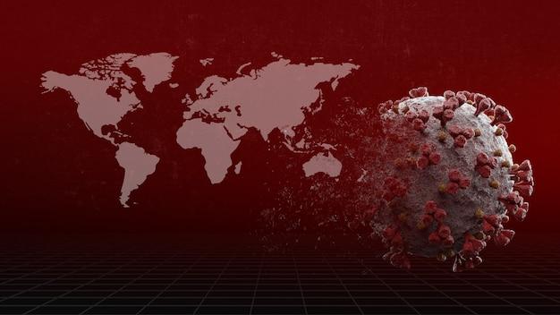 Virus disappear  image of corona virus eradication