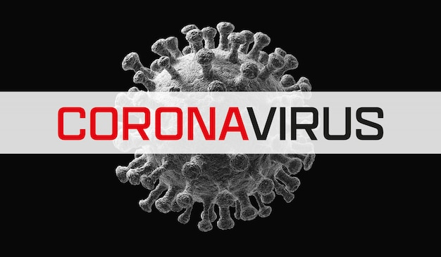 Virus isolated on white. close-up of coronavirus cells or bacteria molecule