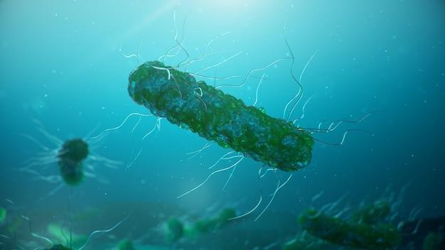 Вирусы, вызывающие инфекционные заболевания, снижение иммунитета. клетка заражает организм. абстрактные бактерии.