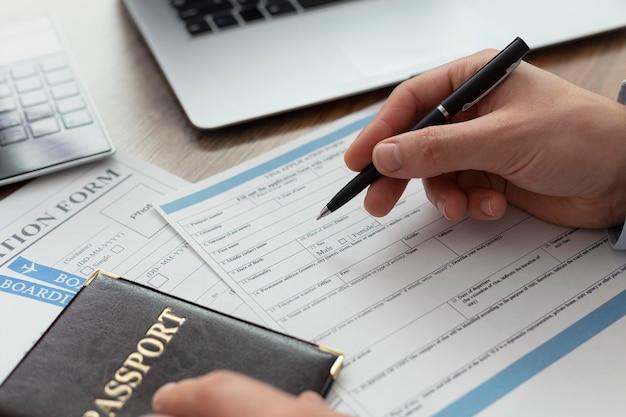 Composizione della domanda di visto con passaporto
