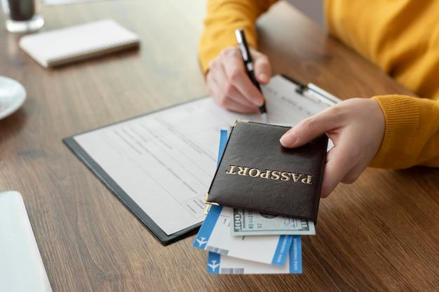 Составление заявления на визу с паспортом