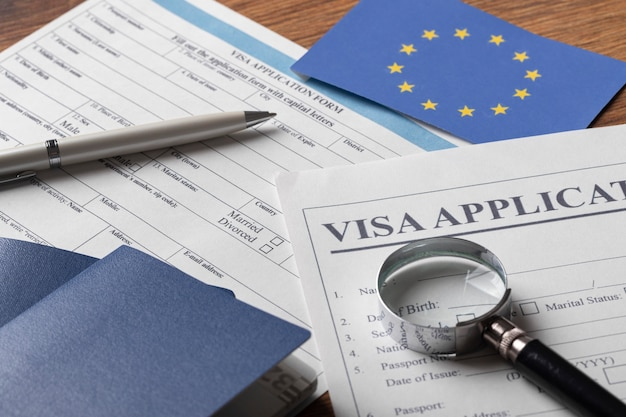 Visa application for europe arrangement