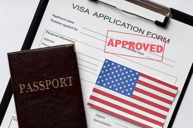 アメリカの手配のためのビザ申請