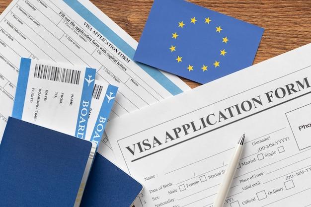 ヨーロッパの手配のためのビザ申請