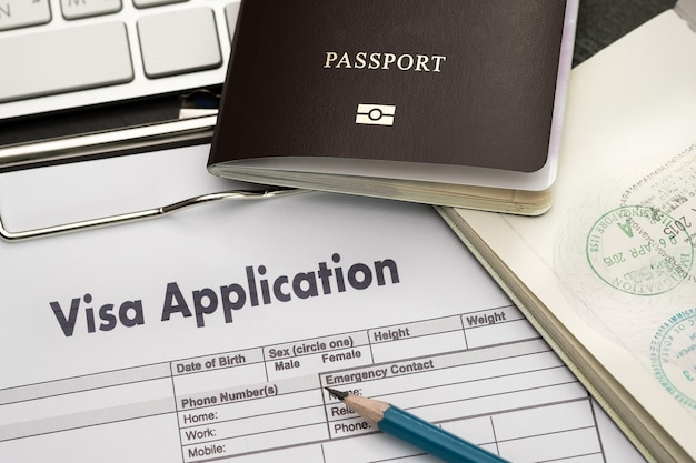 Visa application form to travel