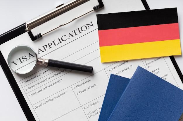 Visa application for germany arrangement