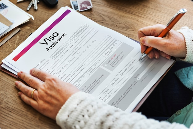 Концепция туристической формы заявления на получение визы