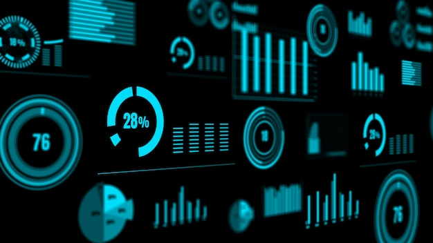 Visionary business dashboard for financial data analysis