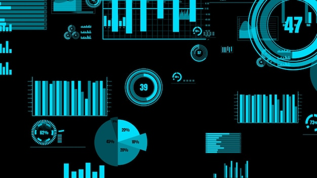 財務データ分析のための先見の明のあるビジネスダッシュボード