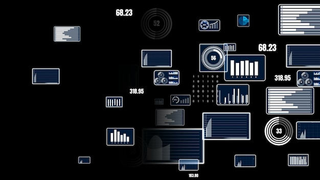 재무 데이터 분석을위한 미래형 비즈니스 대시 보드