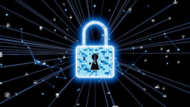 Визуальная технология шифрования кибербезопасности для защиты конфиденциальности данных