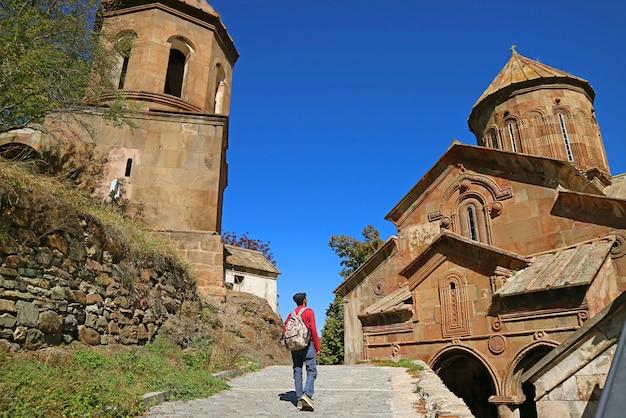 Visitor in sapara monastery a remarkable medieval georgian orthodox monastery georgia