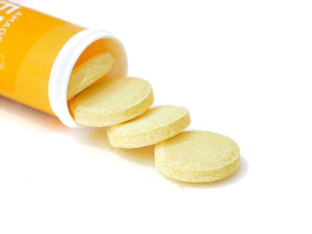 Vitamin c image in white background.