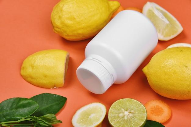 ビタミンc栄養ピル、有機新鮮な果物と野菜からの自然療法サプリメント、健康的な美容食品ダイエット