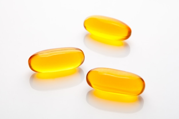 Vitamin capsule fish oil for healthy concept