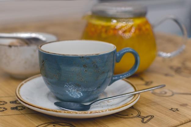Vitamin sea buckthorns hot tea