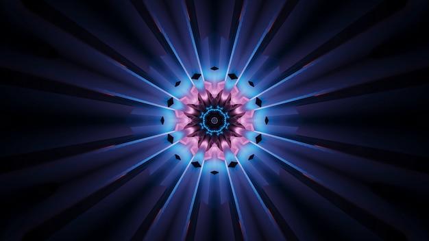 青とピンクの色で背景の鮮やかな美しい抽象的な花のようなパターン