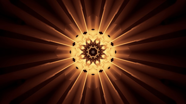 Яркий красивый абстрактный цветочный узор для фона с коричневыми и желтыми цветами